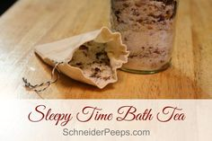 Herbs and essential oils are combined to make this super relaxing sleepy time bath tea. Learn how to make it for yourself or to give as gifts.