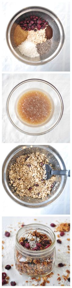Coconut Vanilla Granola.  An easy and flavorful recipe that will have you ditching boxed cereal for good!