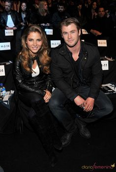 Elsa Pataky and Chris Hemsworth. She's 7 years older. They are married and have a daughter together.