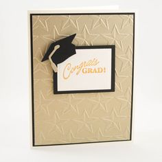 Handmade Graduation Card Grad Card with Hat  Grad Cap by TrioCards, $4.75