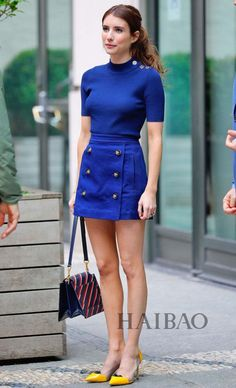 emma roberts outfits best outfits - Page 18 of 100 - Celebrity Style and Fashion Trends Mode Outfits, Fashion Outfits, Womens Fashion, Fashion Trends, Petite Fashion, Fashion Tips, Royal Blue Outfits, Mode Bcbg, Emma Roberts Style