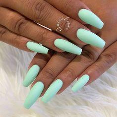 latest acrylic nail designs for summer 2019 page 12 - Summer Acrylic Nails Mint Nails, Aycrlic Nails, Mint Green Nails, Light Purple Nails, Nail Nail, Flag Nails, Top Nail, Nail Polishes, Best Acrylic Nails