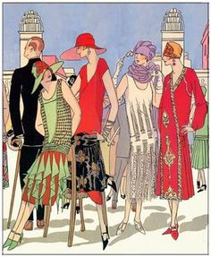 Kittyinva: 1925 designs by Beer, Doucet and Poiret for afternoon frocks.