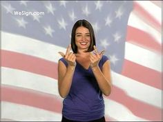 Pledge of Allegiance in Sign Language.