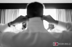 Groom and groomsmen getting ready at intimate  Piedmont Park wedding from Destination + Atlanta wedding photographers Matthew Druin + Co. NO TRAVEL FEES IN THE US!                                                                                                                                                     More