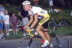Rolf Sorensen. Now Rolf Sorenson could wear a headband. This latter day viking once graced the cover of Euroman, a sort of Danish GQ. He was elegant on the outside, steel on the inside, which is a great combination for a bike rider. Sorensen won Northern Classics: Paris-Tours in 1990, Liège-Bastogne-Liège in 1993 and the Tour of Flanders in 1997, and he looked just right on a bike.