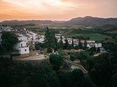 Ronda at dawn James Joyce, Vietnam, Ronda, Destinations, Excursion, Malaga, Planets, Europe, River