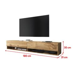 Floating Tv Cabinet, Modern Floating Shelves, Floating Tv Stand, Tv Rack Design, Tv Stand And Wall Unit, Simple Tv Stand, Hanging Tv, Tv Wall Cabinets, Industrial Tv Stand
