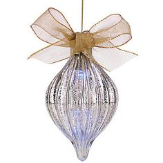 Mercury Glass Lighted Spire Ornament by Lenox