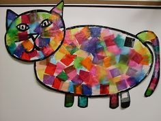This is one of my favorite lessons to do with my kindergartners. It is a tissue paper collage with a painted outline. I give each student a...