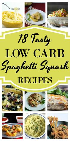 If you're looking for low-carb spaghetti squash recipes, you've come to the right place! here you'll find some of the best ways to cook up the winter squash Low Carb Spaghetti Squash Recipe, Spaghetti Recipes, Spaghetti Squash Carbs, Spaghetti Squash Casserole, Chicken Spaghetti, Low Carb Recipes, Diet Recipes, Healthy Recipes, Diabetic Recipes