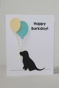 Dog Birthday Card Labrador puppy card happy by JillyBearDesigns