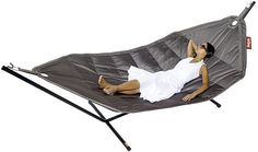This is by far the best hammock I've ever seen and the most comfortable.  Its made by Fat Boy and fits 2-3 people comfortably for a little leisurely lay down in the sun or grab yourself a little blanket and lay out to look at the stars at night!  Its waterproof, sturdy and just wonderful!  I love mine :)