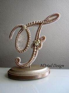 Monogrammed Custom Wedding Cake Topper & Display ♥ by NDetailDesign, $105.99