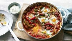 This baked egg recipe works just as well for brunch as it does dinner.