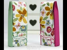 """You're So Lovely, English Garden DSP, 1/2"""" Circle, Corner Rounder & Word Window punches, Itty Bitty Accents Punch Pack, Pearls - Way Back Wednesday Fold Over DSP Box Tutorial"""