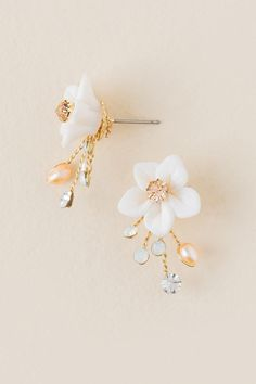 Curated Collection Cake Flower Stud Earring
