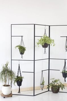 Folding Screen Diy Wall Art Ideas For 2019 Accessories Display, Room Accessories, Vintage Industrial, Diy Plante, Planting For Kids, Room With Plants, White Rooms, Indoor Plants, Hanging Plants