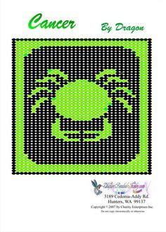 Free Bead Patterns, Zodiac Cancer Pattern by Unique Beaded Jewelry