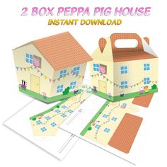 2 Boxes Peppa Pig House Instant Dowload by Migueluche on Etsy