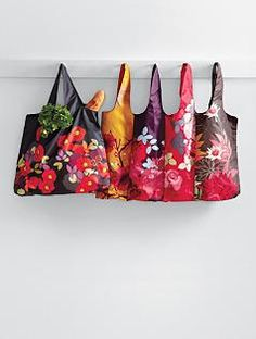 How about a nice floral market bag to carry to those neighborhood farmer's markets.