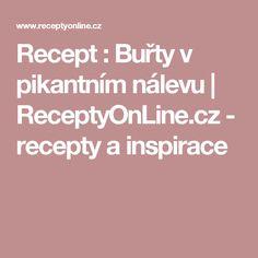 Recept : Buřty v pikantním nálevu | ReceptyOnLine.cz - recepty a inspirace