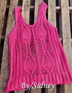 Sidney Artesanato: Minha blusa pink...
