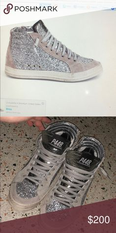 6032a8e3848 P448 skate silver high tops Authentic (and brand new) p448 Italian luxury  sneakers.