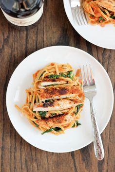 Sun-Dried Tomato Pesto Pasta with Blackened Chicken | Bake Your Day