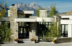 Looks like another dream home for me. Beautiful Space, Beautiful Homes, Hill Country Homes, Wyoming, New Homes, Real Estate, House Design, House Exteriors, Contemporary
