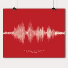 Great gift idea :) Movie Quotes in Sound Wave format on TouchOfModern - Pulp Fiction