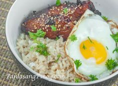 Chicken Teriyaki, Brown Rice, and Sunny Side Up Egg Recipe sounds like a good idea for lunch or breakfast – if you intend to eat something heavy for breakf , Egg Recipes, Asian Recipes, Chicken Recipes, Cooking Recipes, Healthy Recipes, Ethnic Recipes, Chinese Recipes, Healthy Meals, Sunny Side Up Eggs Recipe