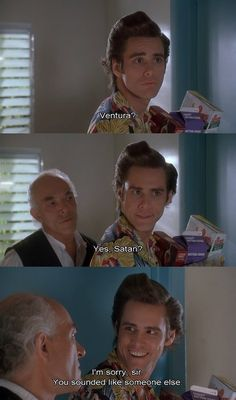 Ace Ventura. Comedy classic, forever and always Funny Movies, Great Movies, Amazing Movies, Funny Movie Quotes, Funny Movie Scenes, Funniest Movies, 90s Movies, Movie Tv, Memes Lol