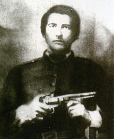 Ellison Hatfield, brother of Devil Anse Hatfield; Ellison was killed by Randolph McCoy's sons, which truly ignited the Hatfield & McCoy feud.