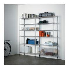 OMAR 2 bagian rak IKEA Mudah dirakit - tidak memerlukan alat. Juga dapat berdiri dengan stabil di lantai yang tidak rata karena kaki dapat diatur.