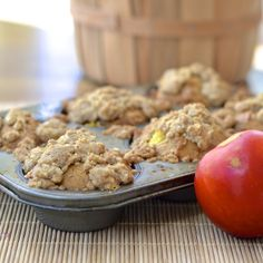 Peach Cobbler Muffins with a burst of fresh peach and spice in each bite #SummerFest
