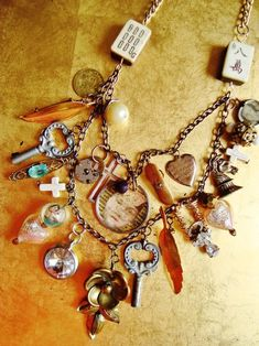 vintage necklace from flea market finds.  great idea