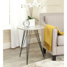 Safavieh Wolcott Taupe/ Black Lacquer Side Table | Overstock.com Shopping - Great Deals on Safavieh Coffee, Sofa & End Tables