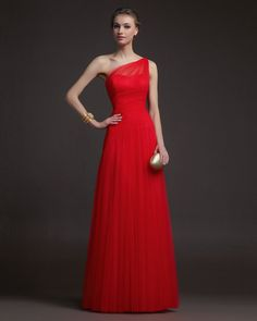 Red A-line One-shoulder Chiffon 2014 Prom Dresses - shop by prom dresses uk, 2013 formal gowns, cheap short prom dresses online shop. Beach Bridesmaid Dresses, Grad Dresses Long, Prom Dresses Uk, Tulle Prom Dress, Occasion Dresses, Pretty Dresses, Beautiful Dresses, Party Dress, Formal Dresses