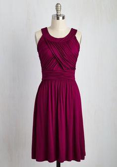 So Happy to Gather Dress in Raspberry
