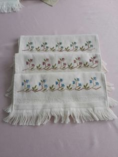 This Pin was discovered by Fat Palestinian Embroidery, Elegant Table, Bargello, Diy And Crafts, Towel, Cross Stitch, Blanket, Face Towel, Bath Linens