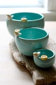 adorable.  Don't know who's they are .... #Pottery #Art