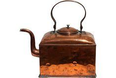 19th-C. Copper Kettle