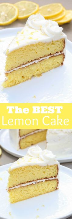 THE BEST homemade Lemon Cake with light lemon buttercream frosting! Everyone…
