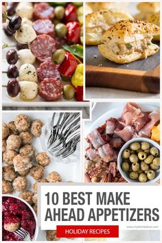 10 of the BEST Make Ahead Appetizers. Get a bunch of holiday appies into the freezer for easy hosting this holiday season. Dinner Party Appetizers, Gourmet Appetizers, Best Appetizer Recipes, Appetizers For A Crowd, Appetizer Ideas, Holiday Appetizers, Yummy Appetizers, Holiday Desserts, Holiday Recipes