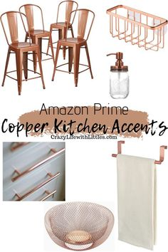 copper home accents - homeaccents Black And Copper Kitchen, Copper Kitchen Accents, Copper Kitchen Accessories, Copper Kitchen Decor, Bronze Kitchen, Copper Decor, Copper Accents, Navy Kitchen, Header Design