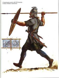 Scandinavian warrior, 6th-7th century