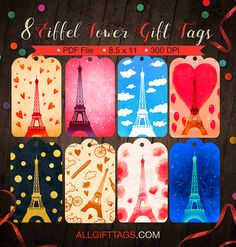 Easter basket gift tags free printable gift tag templates printable eiffel tower gift tags get them in pdf format at http negle Images