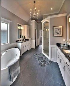 Utilize these home decor ideas to brighten your house and give it new life. Home redecorating is enjoyable and may change your house into a home when you learn how to do it. Dream Bathrooms, Beautiful Bathrooms, Small Bathroom, Master Bedroom Bathroom, Bathroom Bin, Glass Bathroom, Bathrooms Decor, Silver Bathroom, Contemporary Bathrooms