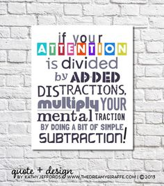 Math Art Print If Your Attention Is Divided by thedreamygiraffe